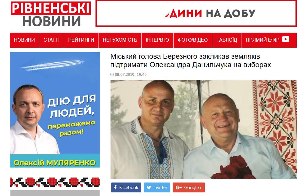 Рівненщина: підтримка кандидатів у народні депутати у Facebook