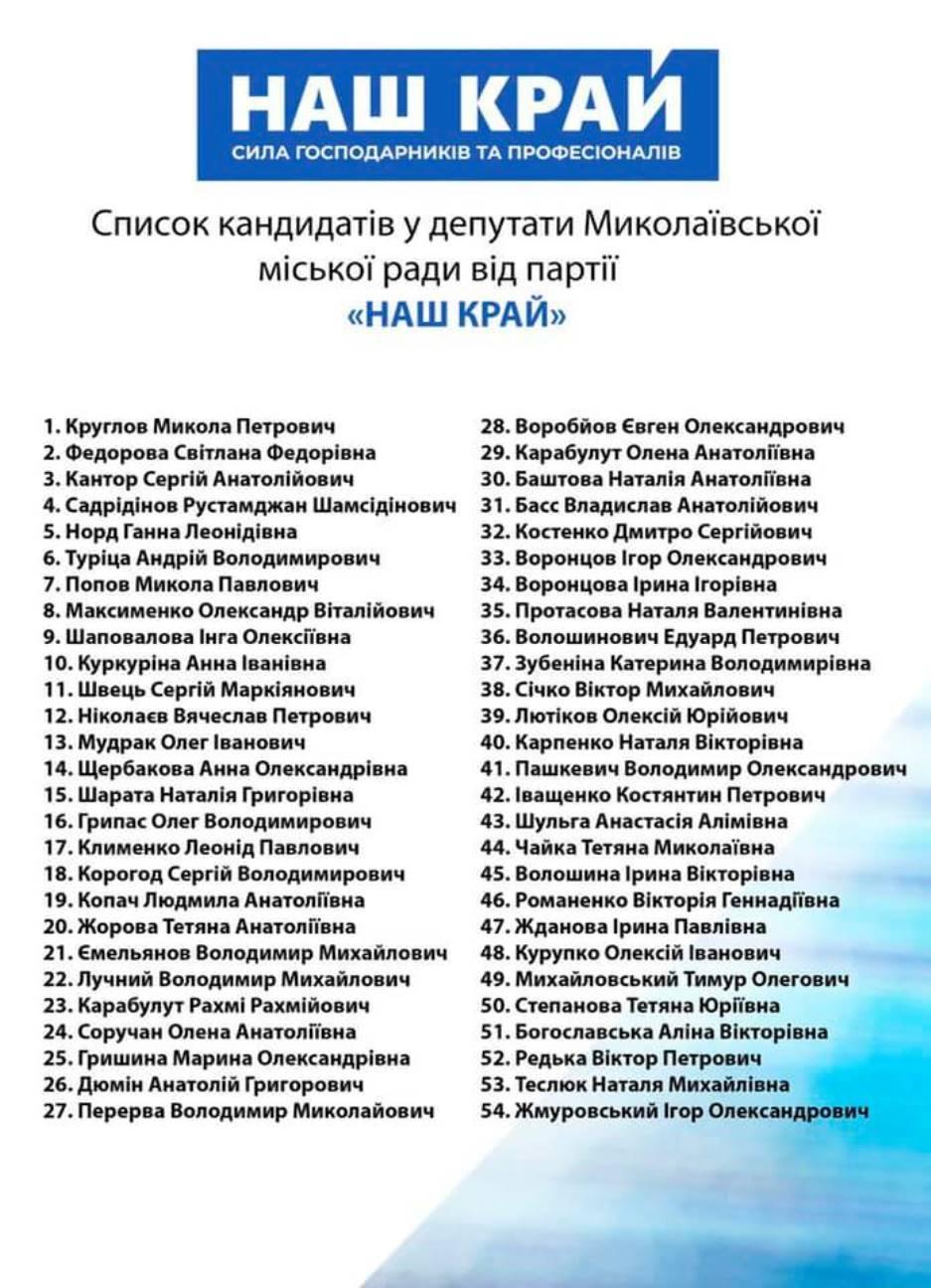 """В Николаеве ОПОРА заявила в полицию о нарушении предвыборной агитации партии """"Наш Край"""" 9"""